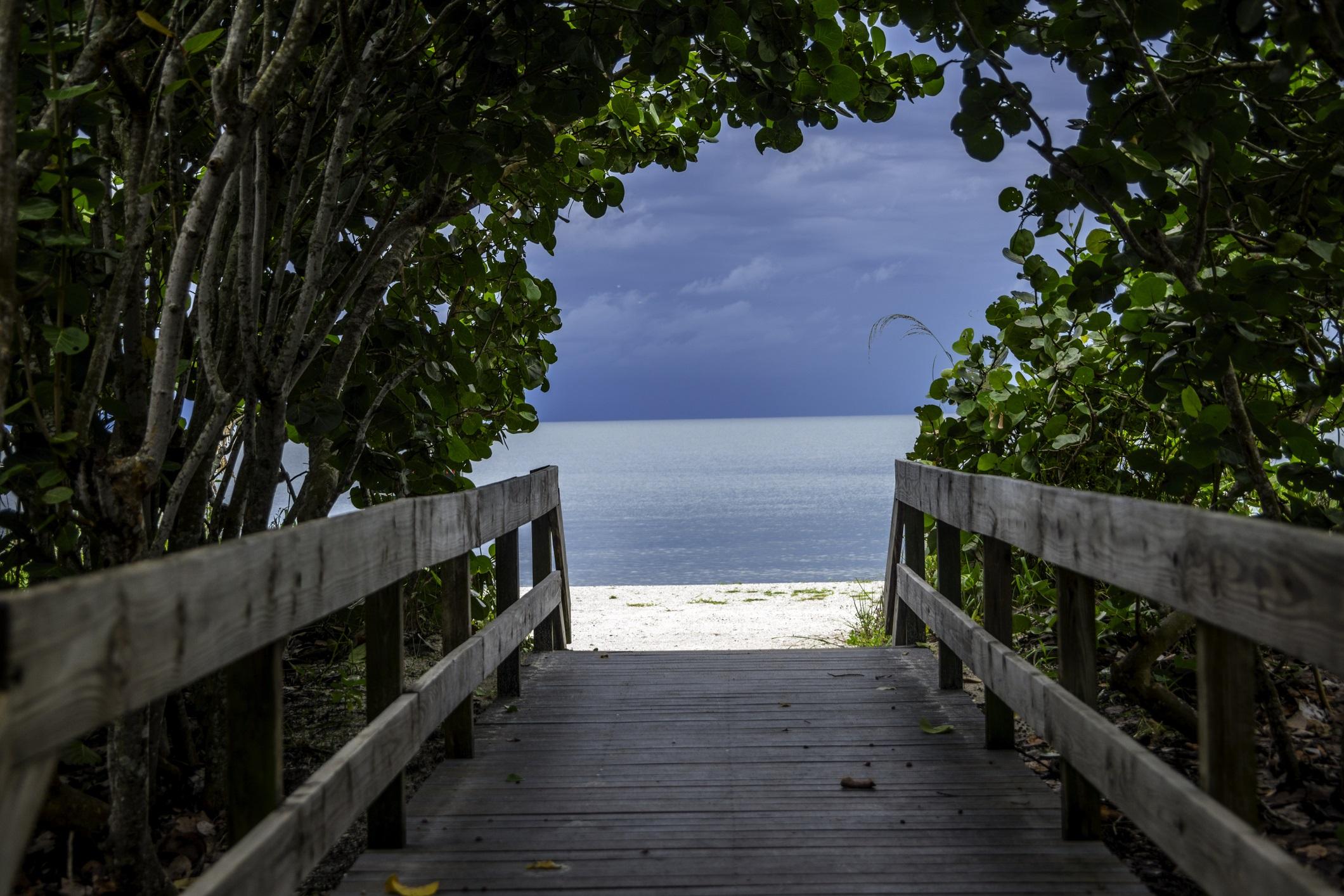 Boardwalk to Bonita Springs Beach